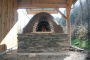 Our wood-fired, earthen oven -part of our family farm getaways, and ideal for artisan bread and farm pizza